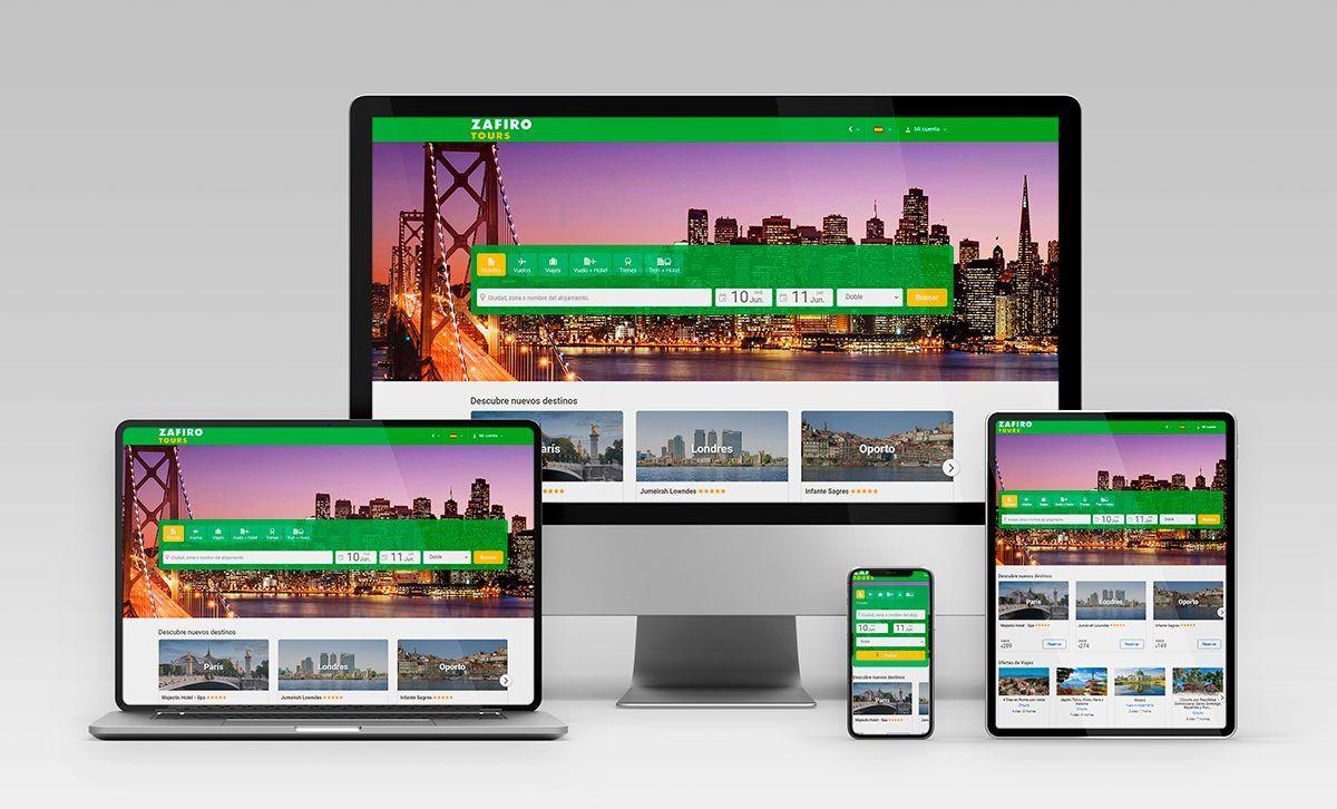 Web para agencias de viajes Zafiro Tours